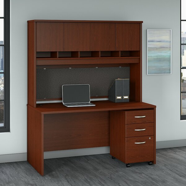 Series C Reversible Executive Desk with Hutch