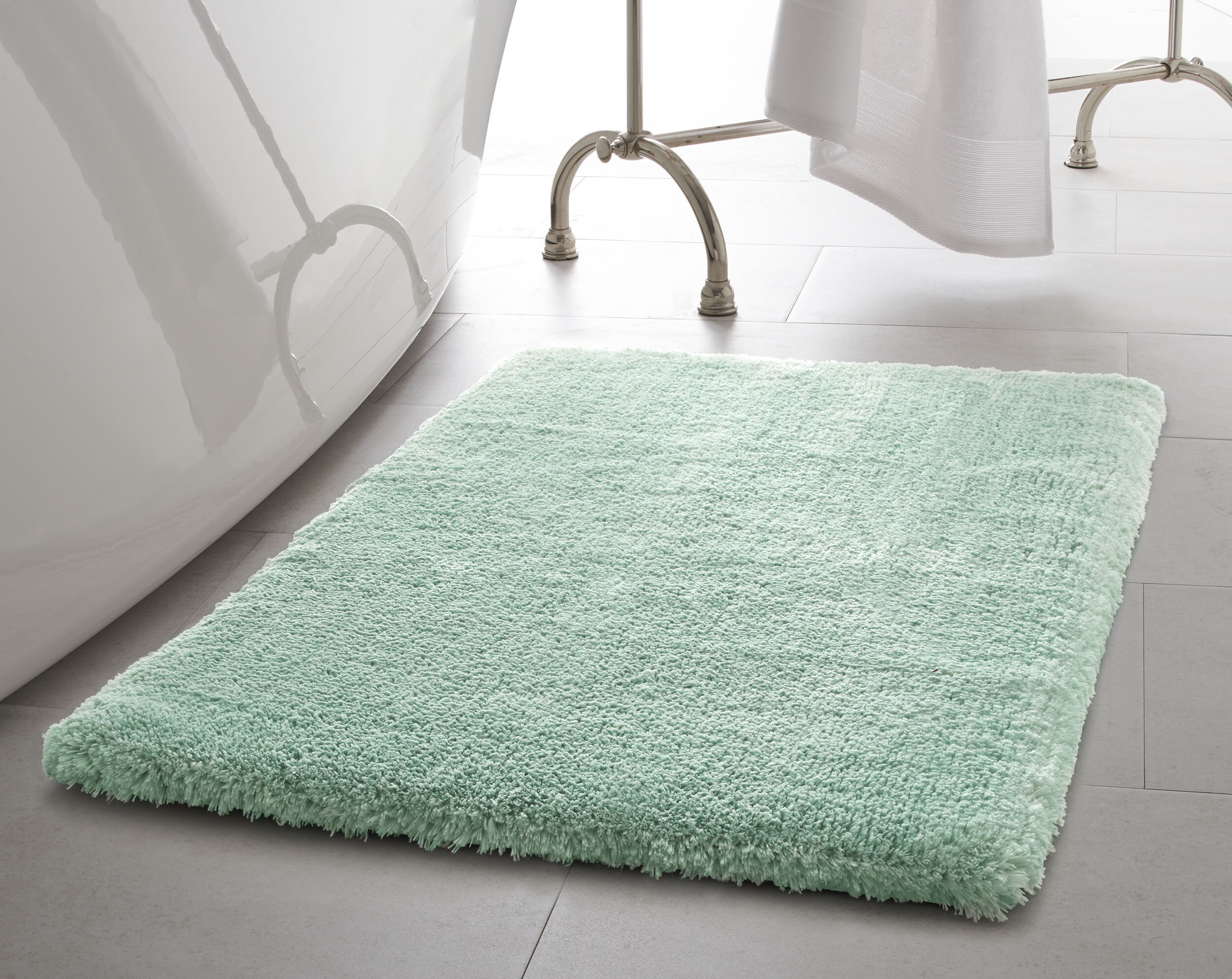 Laura Ashley Pearl Plush Rectangle Non Slip Bath Rug Reviews Wayfair