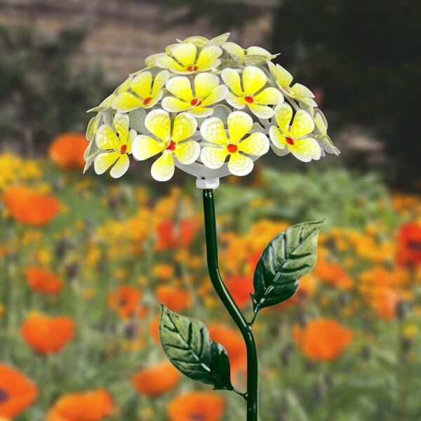 Solar Hydrangea Garden Stake by Exhart