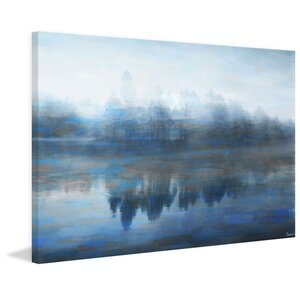 'Lake Marmont' by Parvez Taj Painting Print on Wrapped Canvas by Andover Mills