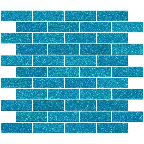 1 x 3 Glass Subway Tile in Cerulean Blue by Susan Jablon