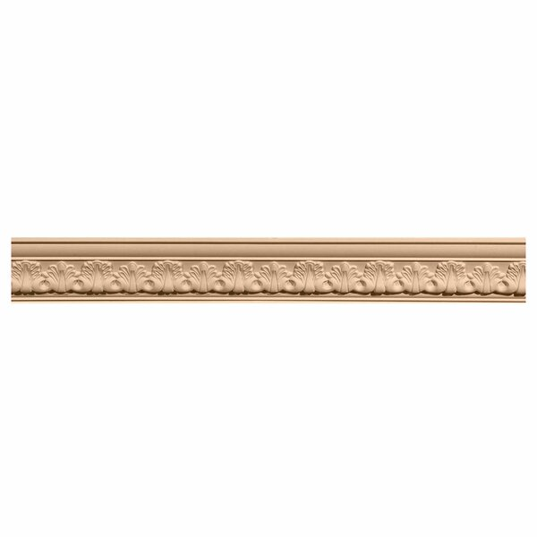 Acanthus 2 1/8H x 96W x 2 3/8D Leaf Carved Wood Crown Moulding by Ekena Millwork