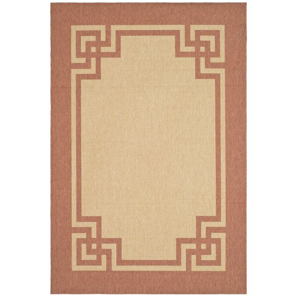Deco Frame Beige / Terracotta Area Rug by Martha Stewart Rugs