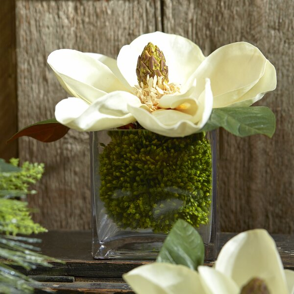 Faux Cream Magnolia in Vase by Creative Displays, Inc.