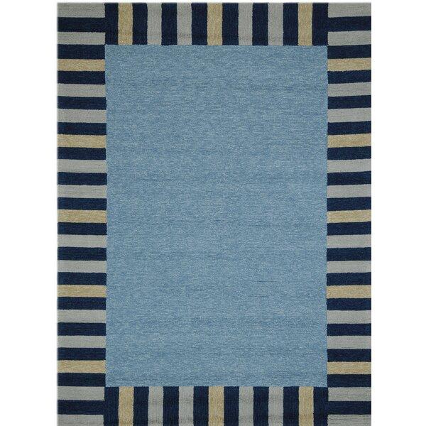 Oakham Slate Blue Indoor/Outdoor Area Rug by Harriet Bee