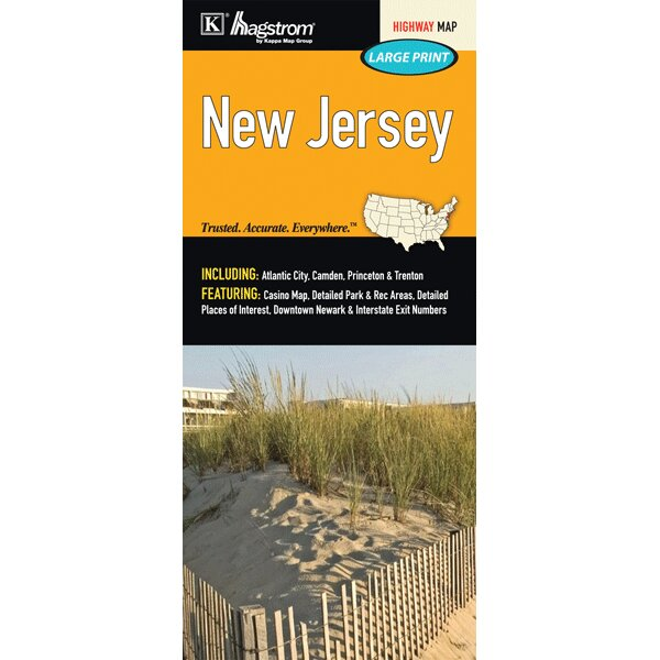 New Jersey Large Print Fold Map by Universal Map