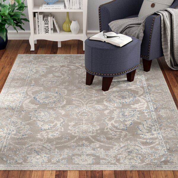 Nielsen Taupe / Blue Area Rug by Charlton Home