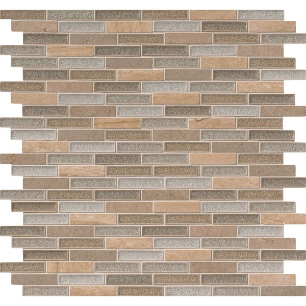 Crystal Vista 1 x 4 Glass/Stone Mosaic Tile in Brown by MSI