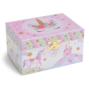 Find a Rainbow Glitter Unicorn Musical Jewelry Box ByHarriet Bee