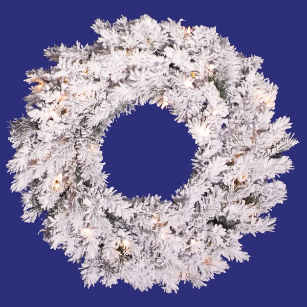 Flocked Alaskan Pine Wreath by The Holiday Aisle