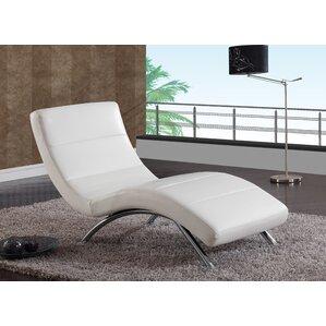 chaise lounge black black white