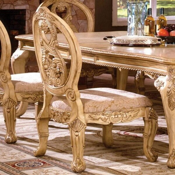 Dematteo Queen Anne Back Side Chair In Gold (Set Of 2) By Astoria Grand