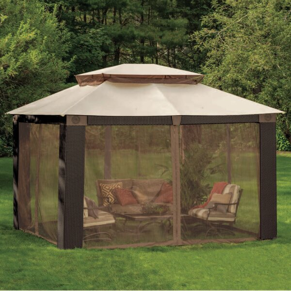 Replacement Mosquito Netting for Antigua Wicker Gazebo by Sunjoy