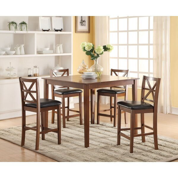 Belvidere 5 Piece Counter Height Dining Set by Darby Home Co