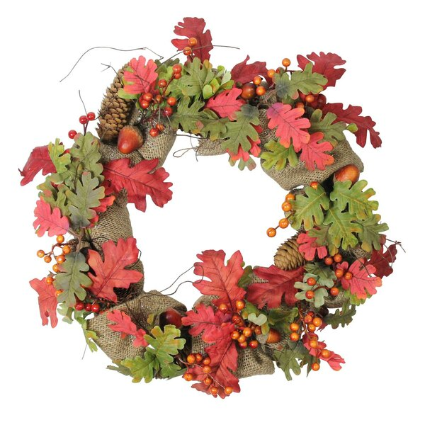 Autumn Harvest Acorn Rustic Thanksgiving 18 Grapevine Wreath by The Holiday Aisle