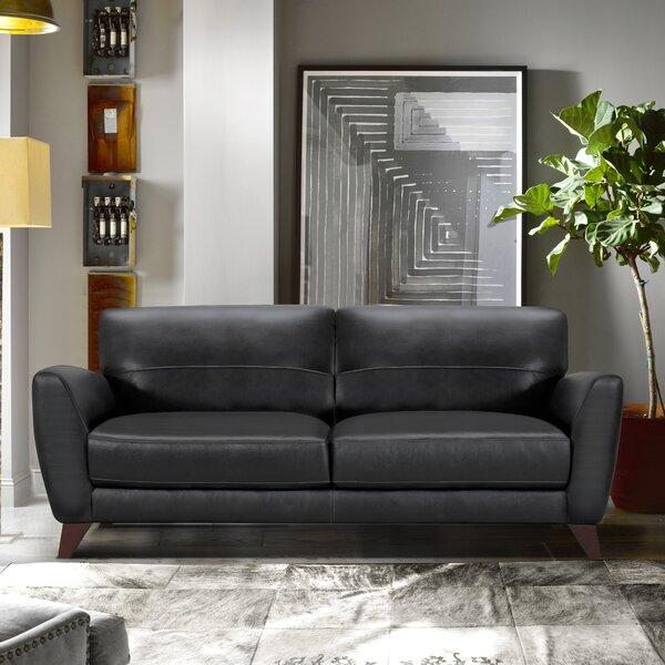Exellent Quality Caloundra Genuine Leather Sofa by Brayden Studio by Brayden Studio