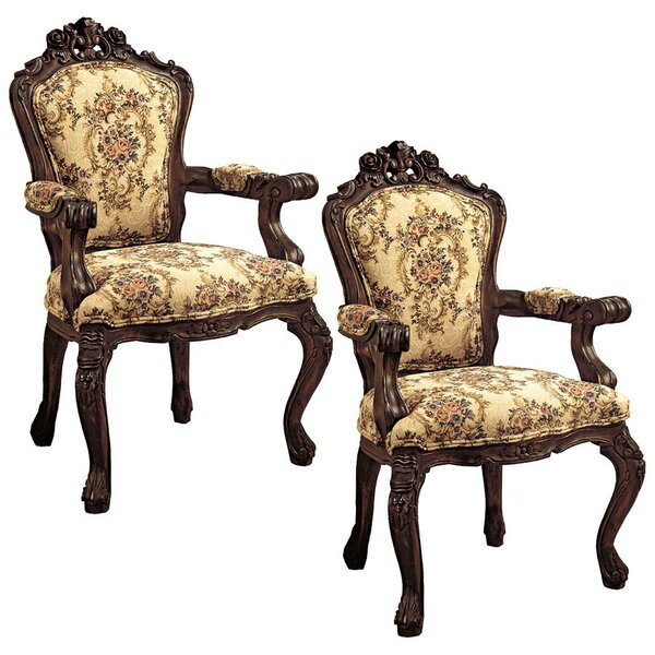 Carved Armchair (Set of 2) by Design Toscano