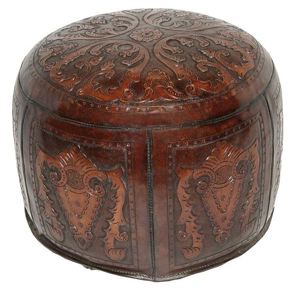 Home & Garden Navarette Leather Pouf