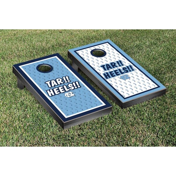 NCAA North Carolina Tar Heels Tar!! Heels!! Version Cornhole Game Set by Victory Tailgate