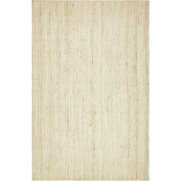 Neilson Hand-Braided White Area Rug by Laurel Foundry Modern Farmhouse