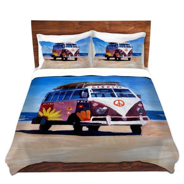 Groovy Peace Vw Bus Duvet Cover Set