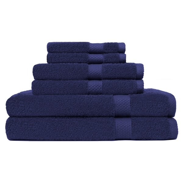 6 Piece Turkish Cotton Towel Set by Alcott Hill