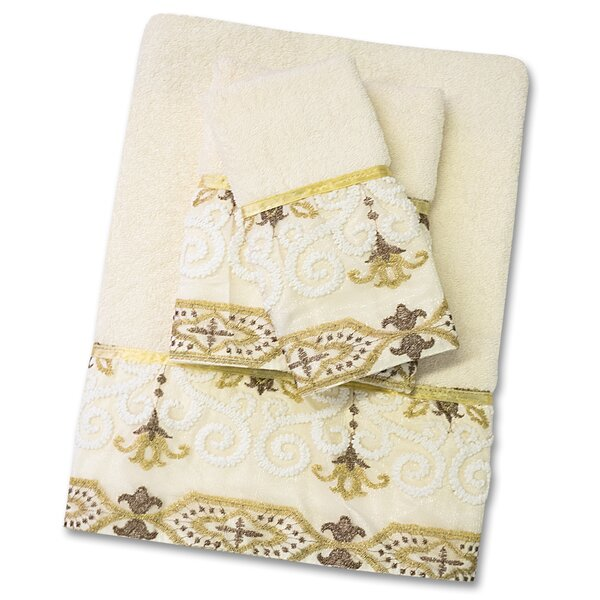 Savoy 3 Piece Towel Set by Sweet Home Collection