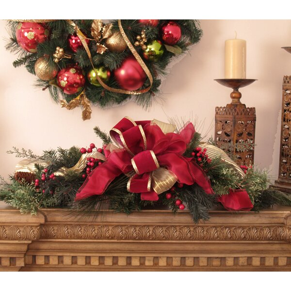Pine and Berry Christmas Centerpiece by Floral Home Decor