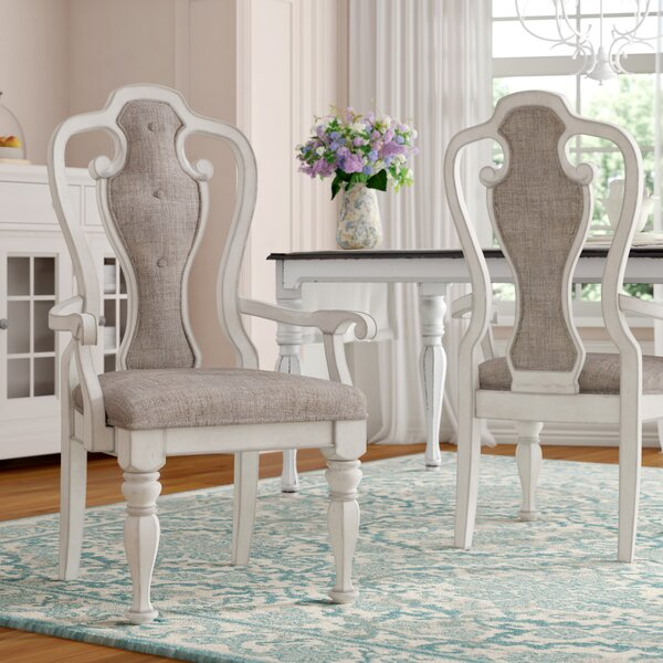 Tiphaine Upholstered Queen Anne Back Dining Chair (Set Of 2) By Lark Manor