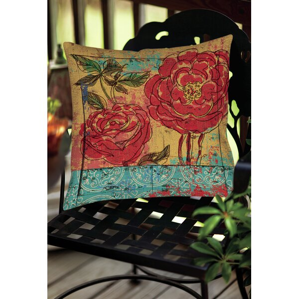 Valencia Indoor/Outdoor Throw Pillow by Manual Woodworkers & Weavers