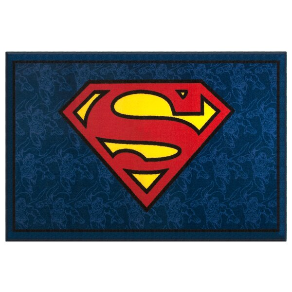 Superman Blue Area Rug by Wildkin