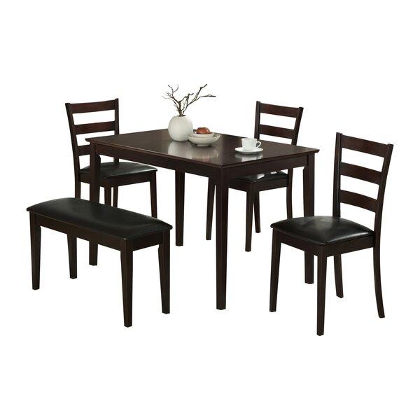 5 Piece Dining Set by Monarch Specialties Inc.