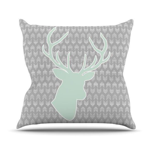 Winter Deer by Pellerina Design Throw Pillow by KESS InHouse