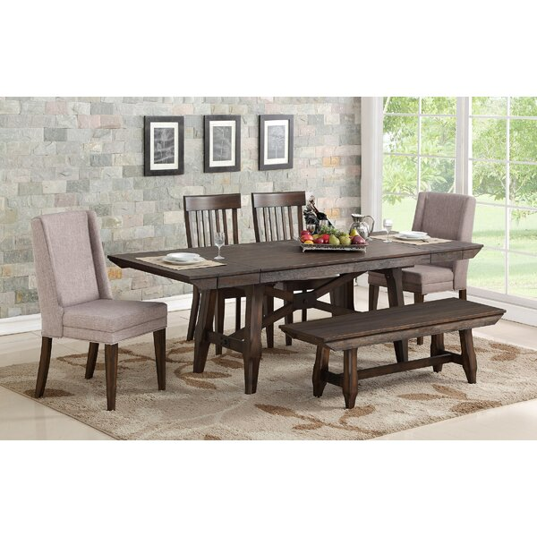6 Piece Extendable Solid Wood Dining Set by Gracie Oaks