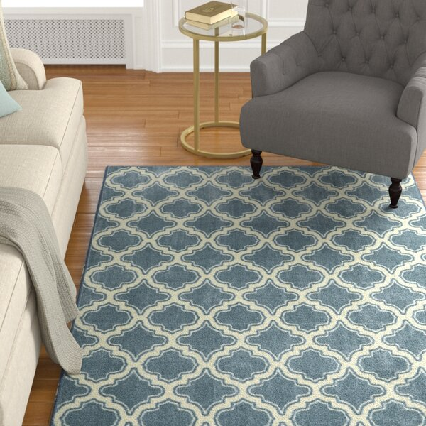 Latimer Blue Area Rug by Alcott Hill