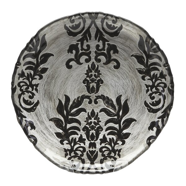 6.5 Damask Canape Plate by Red Pomegranate