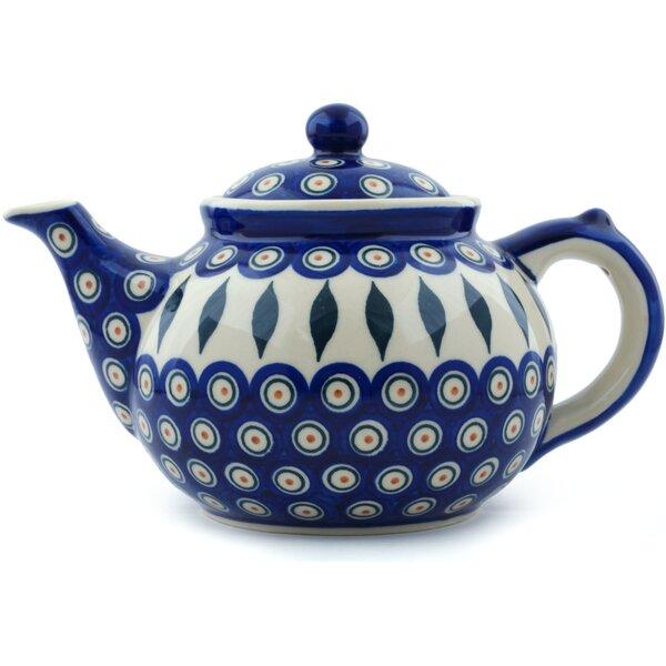 Peacock 1.6 Qt. Polish Pottery Teapot by Polmedia