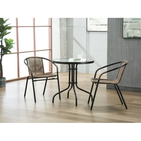 Bemadette 3 Piece Dining Set by Highland Dunes