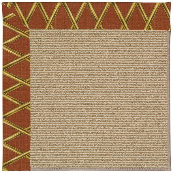 Lisle Machine Tufted Cinnabar Honey and Beige Indoor/Outdoor Area Rug by Longshore Tides