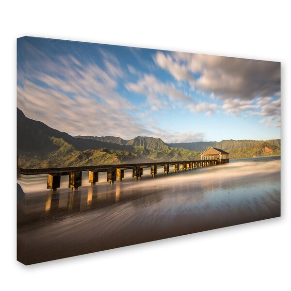 Hanalei Bay Pier by Pierre Leclerc Photographic Print on Wrapped Canvas by Trademark Fine Art