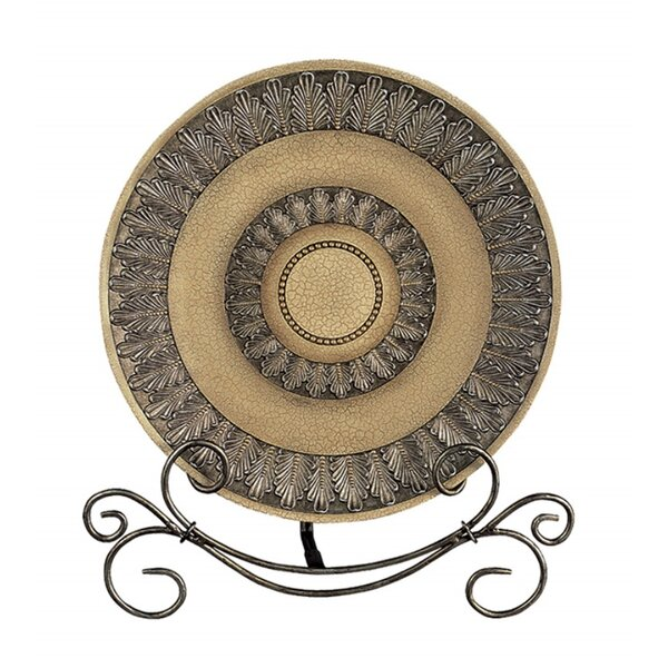 Cassian Leaf and Beads Serving Plate by Fleur De L