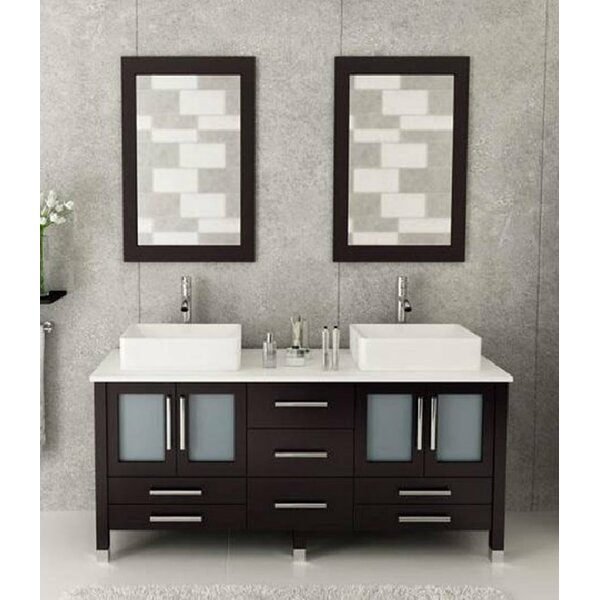 Karling 72 Double Bathroom Vanity Set with Mirror