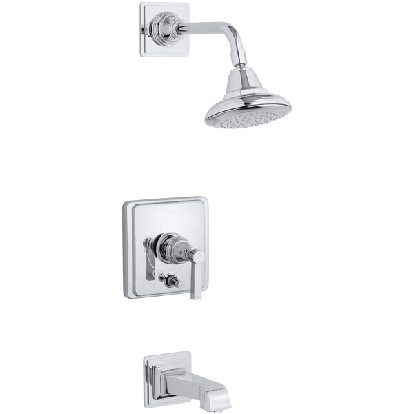 Pinstripe Pure Rite-Temp Pressure-Balancing Bath and Shower Faucet Trim with Lever Handle, Valve Not Included by Kohler