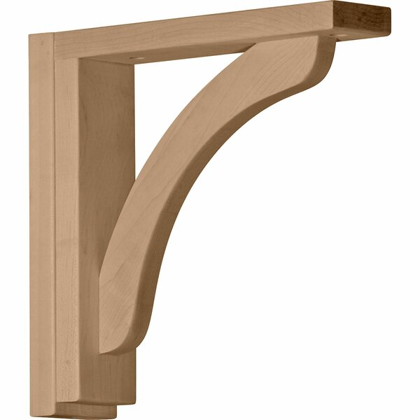 Reece 10 1/4H x 2 1/2W x 13/4D Shelf Bracket in Rubberwood by Ekena Millwork
