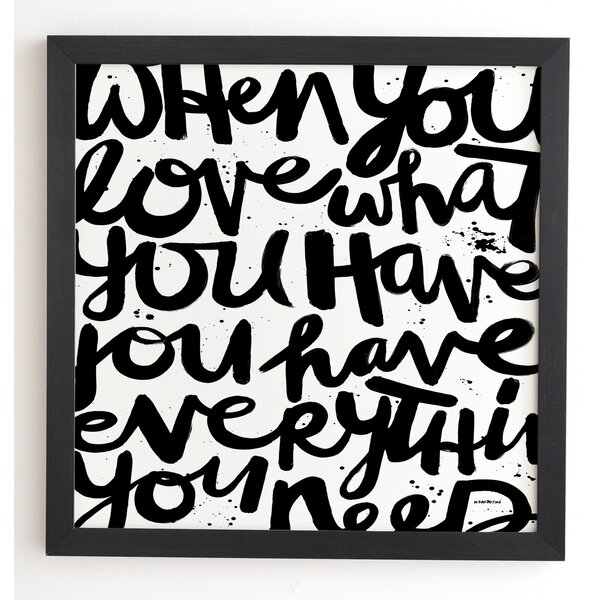 If You Love Framed Textural Art by Latitude Run