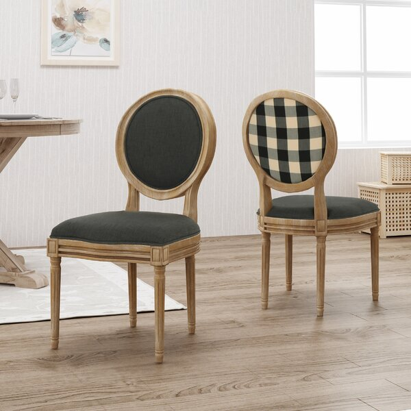 Saratoga Upholstered Dining Chair (Set of 2) by Ophelia & Co.