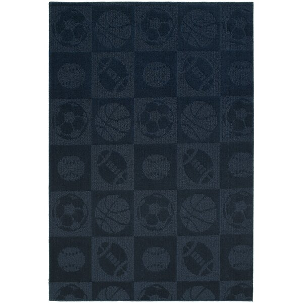Sports Balls Navy Area Rug by Garland Rug
