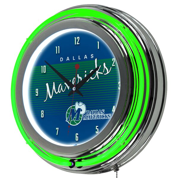 NBA Hardwood Classics Double Ring Neon 14.5 Wall Clock by Trademark Global