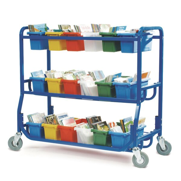 Double Sided 18 Compartment Teaching Cart with Bins by Copernicus