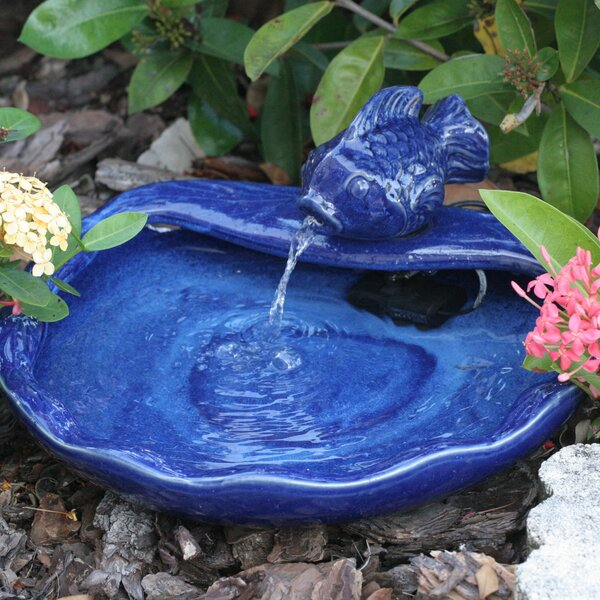 Ceramic Solar Water Features Koi Fountain by Smart Solar